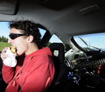 Is Eating While Driving Illegal?